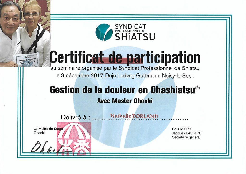 Stage gestion de la douleur avec Wataru OHASHI